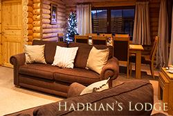 luxury log cabin northumberland lounge