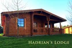 Hadrian's Lodge - Luxury log cabin with hot tub in Northumberland - pets welcome