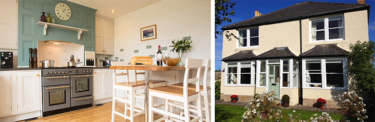 leaholme cottage newton by the sea, holiday cottages low newton, accommodation newton
