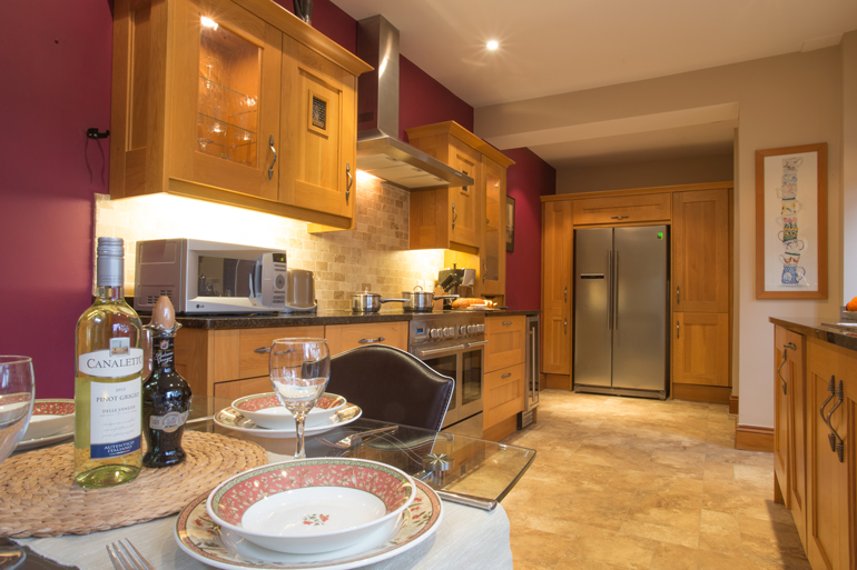 Luxury kitchen in Sunny Cottage Warkworth self catering 5 star