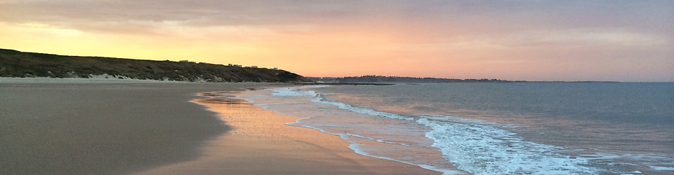 Sunset on Warkworth Beach - Luxury Cottage Holidays with Coquet Cottages
