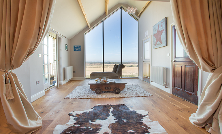 Shepherd's Cottage - View of the sea and Bamburgh Coastline dog friendly self catering holiday cottages