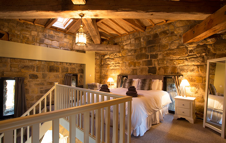 superking bedroom at pottergate tower in alnwick