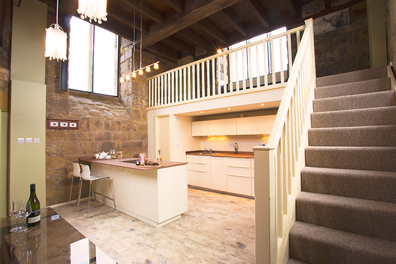 luxury kitchen at pottergate tower in alnwick northumberland