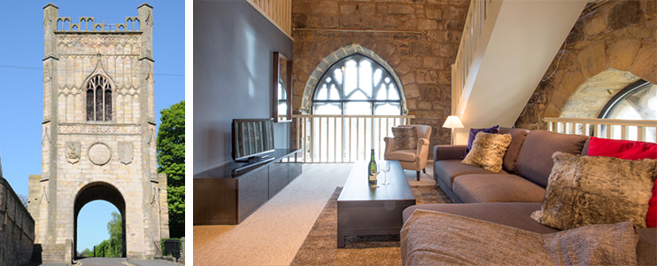 pottergate tower in alnwick, luxury holiday accommodation