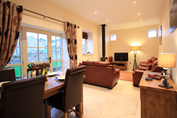 watermill cottage at north charlton, ellingham hall, cottages near ellingham hall, wood burning stove, log burner cottages near bamburgh, dog friendly pet friendly cottages in northumberland