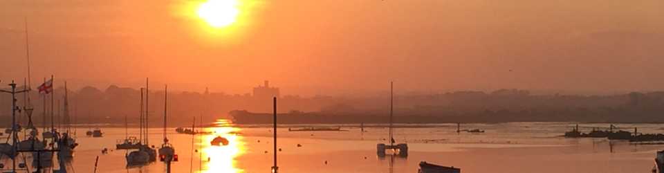 Sunset View of Warkworth from Amble Harbour
