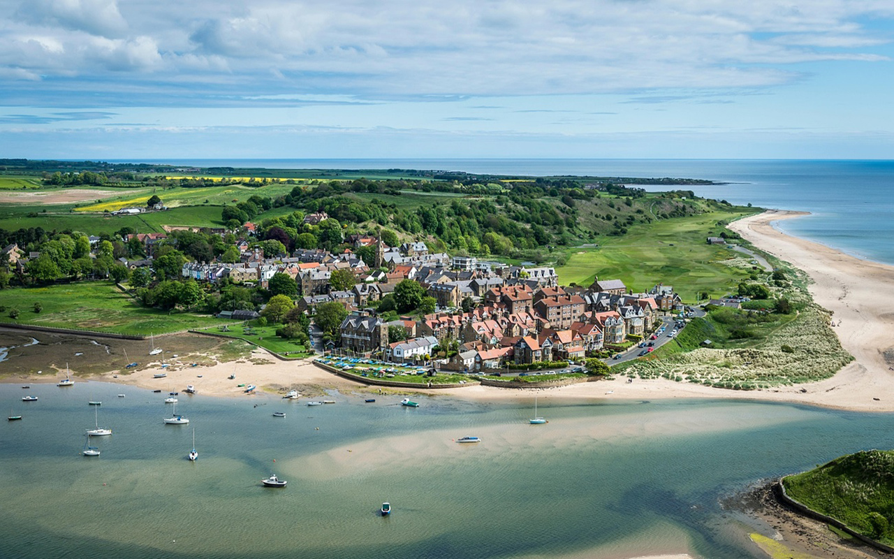 Alnmouth Aerial View Northumberland