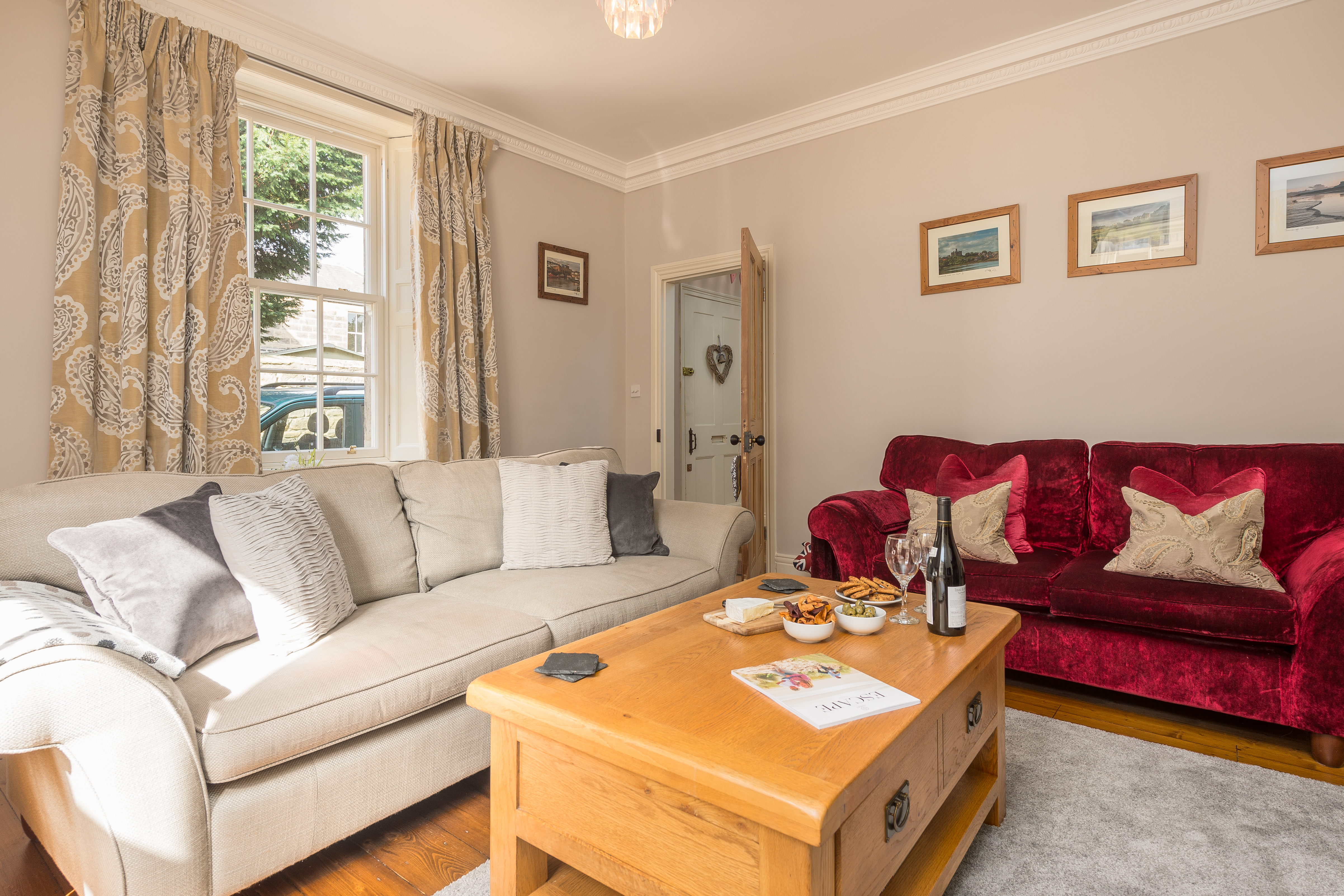 gorgeous places to stay in Alnwick, boutique hotels b&b alnwick northumberland, boutique accommodation Alnwick Northumberland