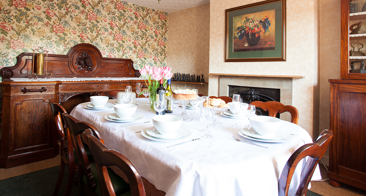 The traditional dining room at Border House is perfect for friends and family getting together, the house is also dog friendly with a huge garden to the rear all enclosed