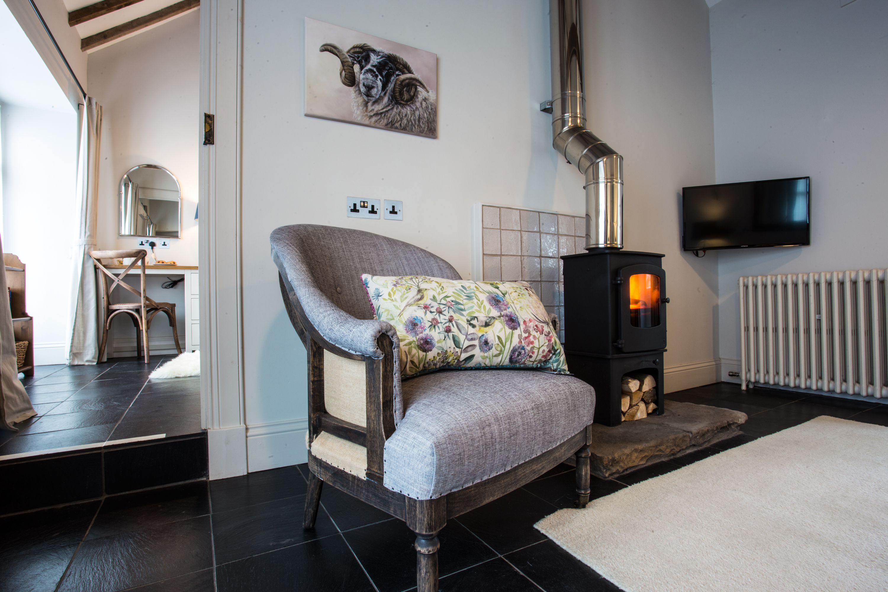 Romantic luxury holiday cottage Holburn Mill near Holy Island and Bamburgh