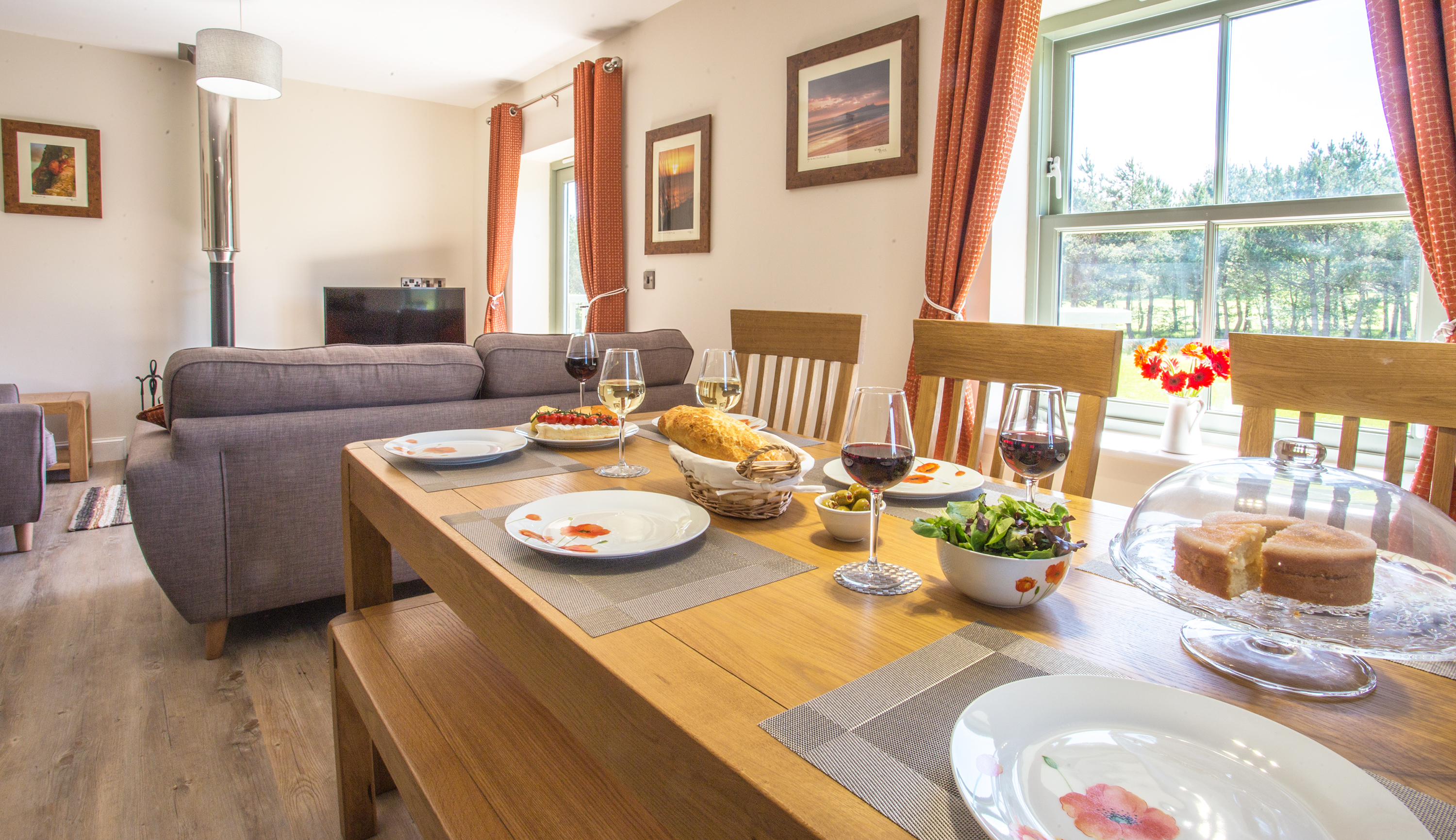 cottages for golfers in Northumberland