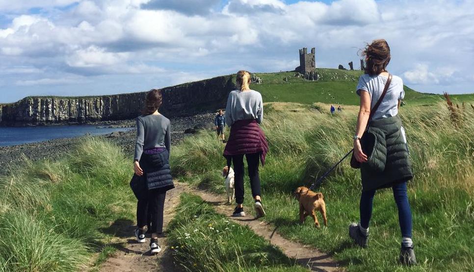 Coastal walk to Dunstanburgh Castle