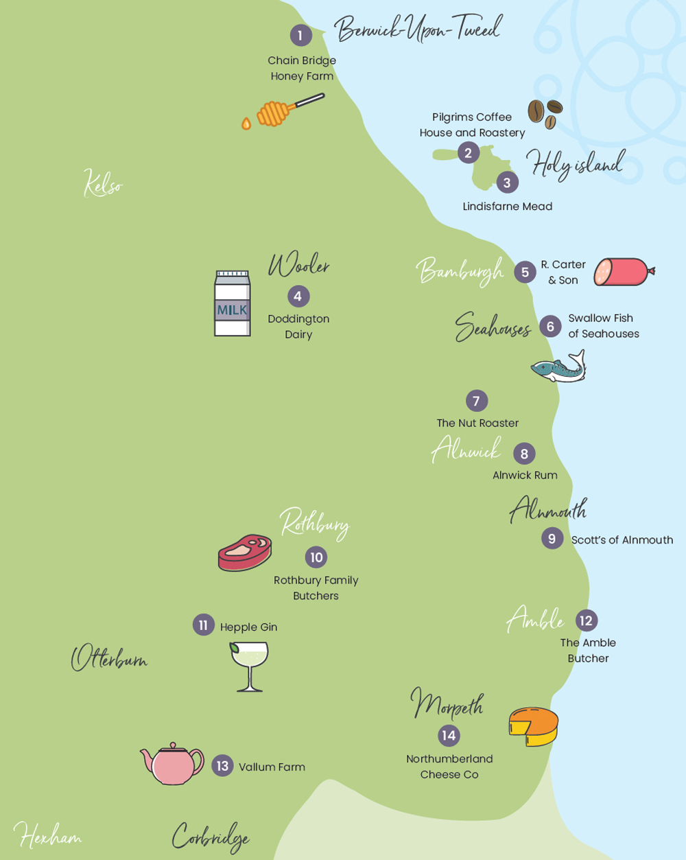 Places to eat in Northumberland